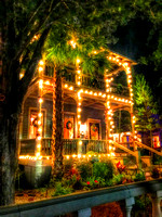 Beautiful lighted house